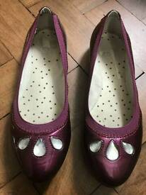 Girls Clarks party shoes UK 1f