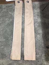 Beige/neutral curtains