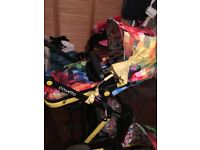Cosatto giggle 2 in 1 pram has rain cover changing bag and parasol 6months old 200 Ono