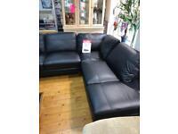 Roma Italian real leather corner sofa