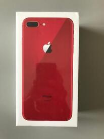 Brand new iPhone 8 Plus in red