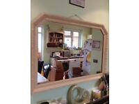 Gorgeous large ornate detailed shabby mirror hand painted in Annie Sloan