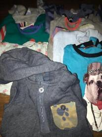 Selection of boys baby grows