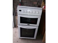 Belling double oven gas cooker