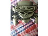 Guns and Roses skull style belt