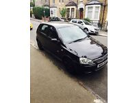Vaxhuall Corsa 2005 automatic black sport quick sale 1.4