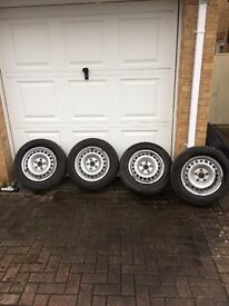 Genuine VW Transporter Steel Wheels 16 inch and tyres