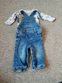 3-6 month dungarees