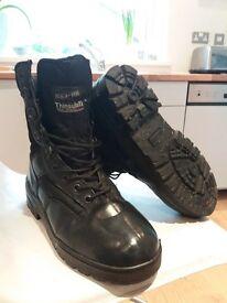 Boys' cadet army black boots
