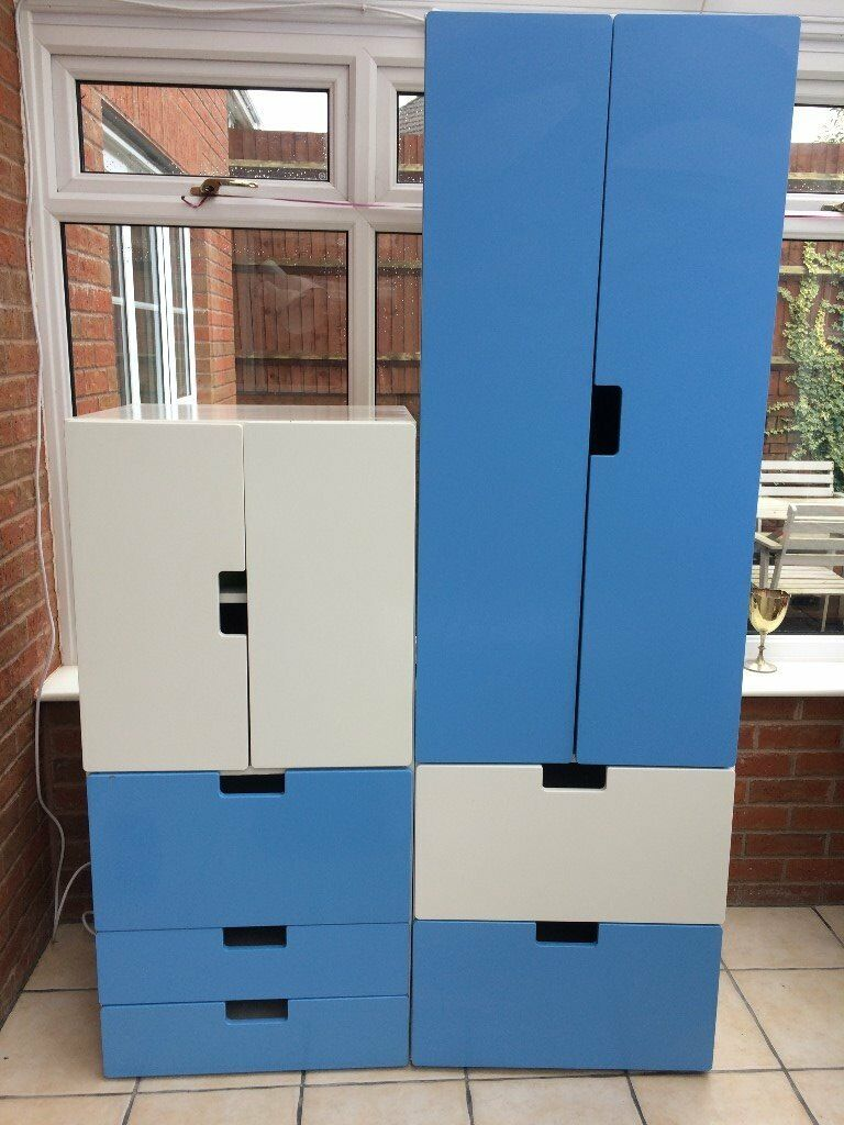 Stuva childrens bedroom furniture from Ikea - Wardrobe and ...