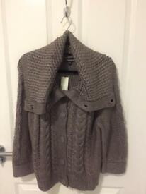 BN Warehouse Extreme Collar Cardigan Size 16