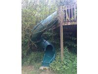 Fantastic treehouse slide