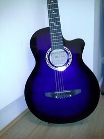 "Brand New Acoustic Purple 38"" guitar for beginners, Great Gift"