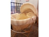 Unisex mammas and pappas moses basket