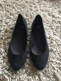 Suede look flat shoes