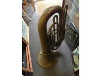 Tuba brass musical instrument ornament collectable piece