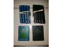Official PlayStation 2 8mb memory cards