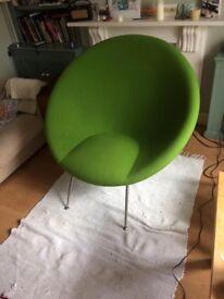 Habitat 'Portrait Chair' By Philip Treacy - Rare Item ID number 0158 Green