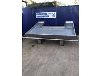 8ft Fish Slab Fish Display Ice Bed Fish Monger Serve Over Counter