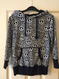 Beautiful Vans Hoodie with Peace Print - Size S