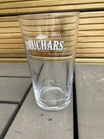 DEUCHARS ipa pint glasses bar pub club man cave