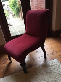 Vintage luxury Edwardian Nursing Chair