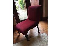 Vintage luxury Edwardian Nursing Chair