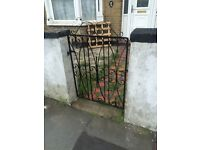 Metal front garden gate