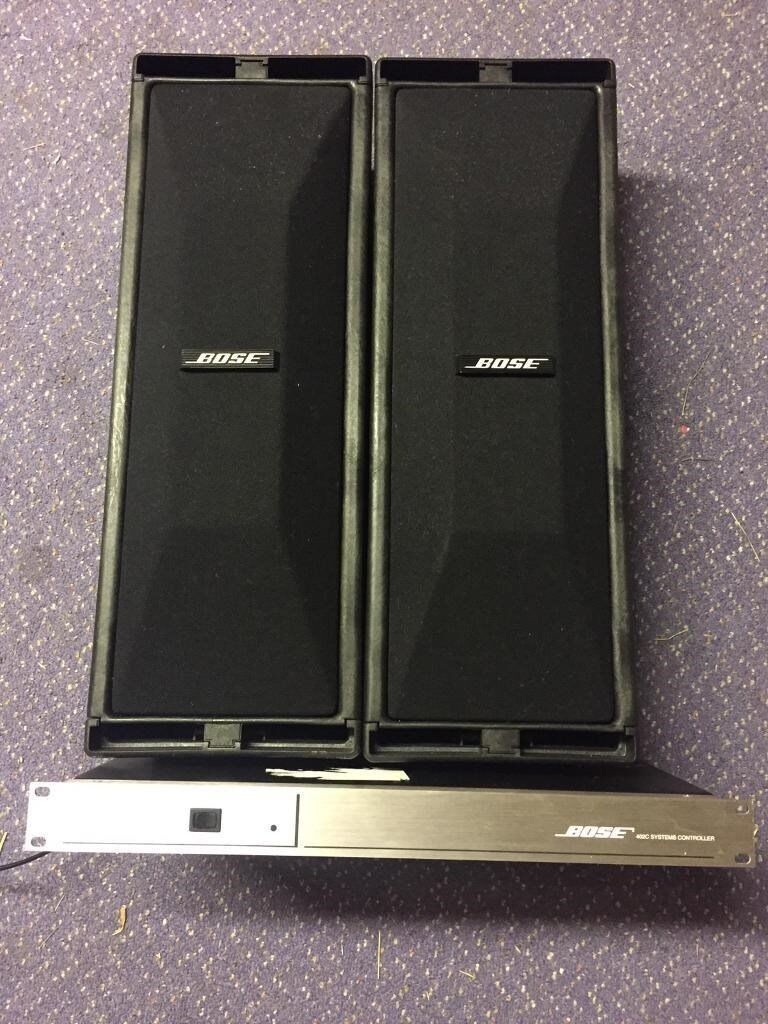 bose 402. pair of bose 402 speakers 402c controller and wall brackets