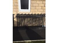 Powder coated black roll top fencing, gate and posts, excellent condition. in Pickering.