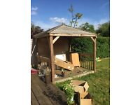 Wooden gazebo/ pergola in good condition, these are selling upwards of £1k online. Open to offers.