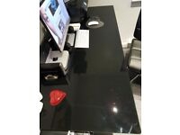 Toughened Black Glass Desk Top ( ONLY)