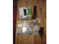 XBox 360 S Slim 250GB Boxed with controller and 9 games MINT CONDITION.