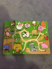 Kids wooden games x2