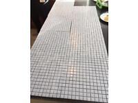 Mosaic glass tiles-misty white