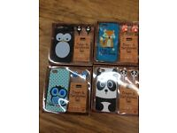 Phone case earphones owl 5s and 5 penguin ,fox, panda