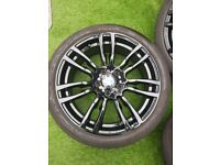 Genuine bmw 19 inch M Sport staggered alloys alloy wheels and tyres