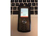 Very Good Motorola L7 Unlocked Mobile Phone Handset in Black + Charger + Sim Card