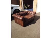 Vintage Brown Chesterfield Leather Sofa