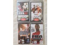 SONY PLAYSTATION PSP RARE RETRO GAMES FIFA 07 09 FIFA SOCCER FOOTBALL MANAGER HANDHELD