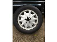 """Mercedes W210 15"""" alloy wheel with tyre"""