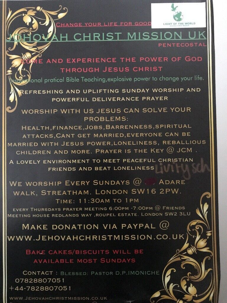 JEHOVAH CHRIST MISSION -MIRACLE HEALING,FINANCIAL