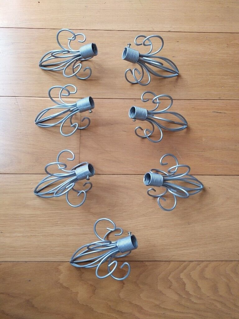 Picture of: 7 Finials Or Ends Of Curtain Rods New Fleur De Lis Pattern Mattesilver In Maida Vale London Gumtree
