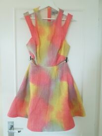 ASOS limited edition multicolour cut-out dress size 12