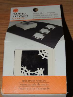 The Punch Halloween (MARTHA STEWART SPIDERWEB WINDOW PUNCH ALL OVER THE PAGE NEW)