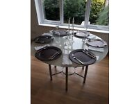 Round Glass Dining Table - 6 seater