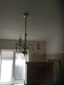 3 Candle Bulb Candelabra Style Ceiling Light
