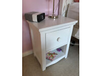 CHILDRENS GIRLS MATCHING BEDROOM FURNITURE WHITE VGC