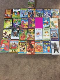 12 DVDs and 17 VHS Tapes