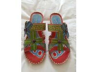 Laura Vita Sandles size 38 or 5 as New